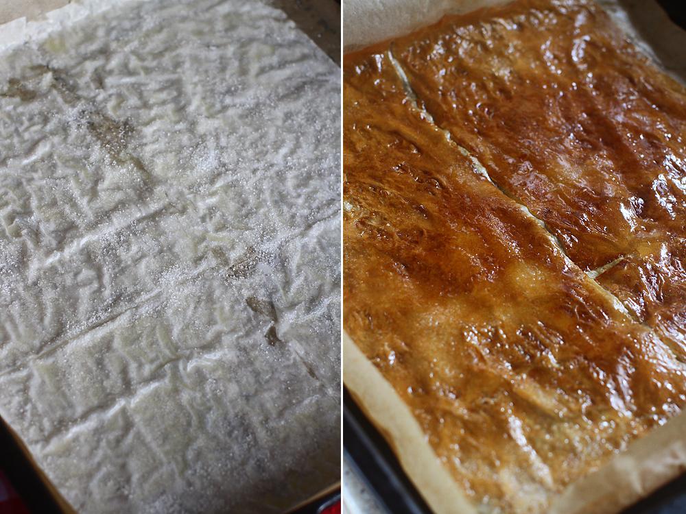 preparare topping crocant pentru prajitura cu mere si caramel