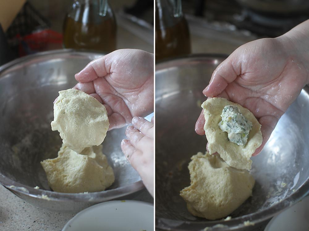 preparare galuste cu branza 1