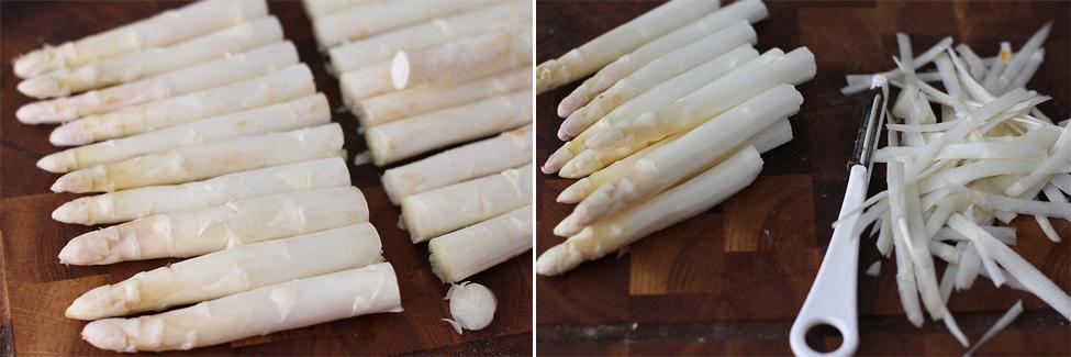 preparare salata cu sparanghel alb si oua de prepelita