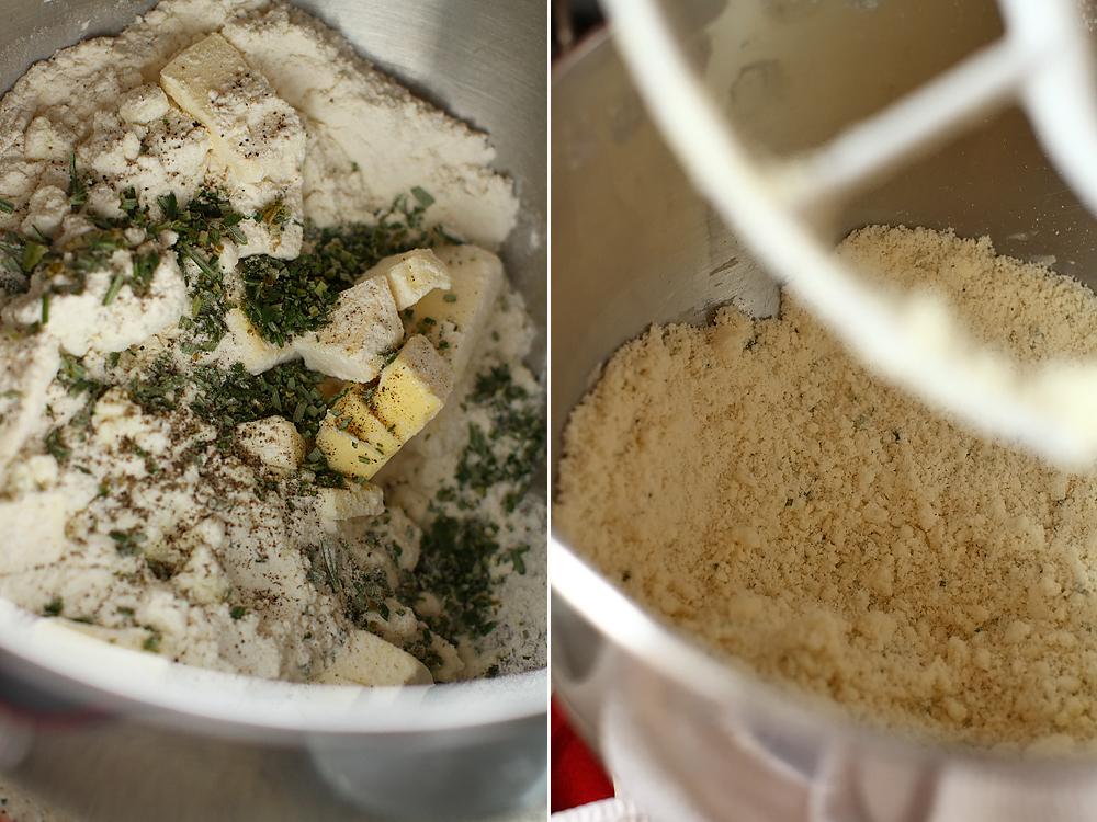 preparare tarta cu dovlecei si branza de capra 2