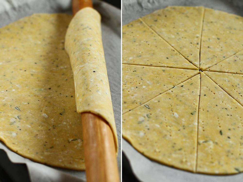 preparare tarta cu dovlecei si branza de capra 4