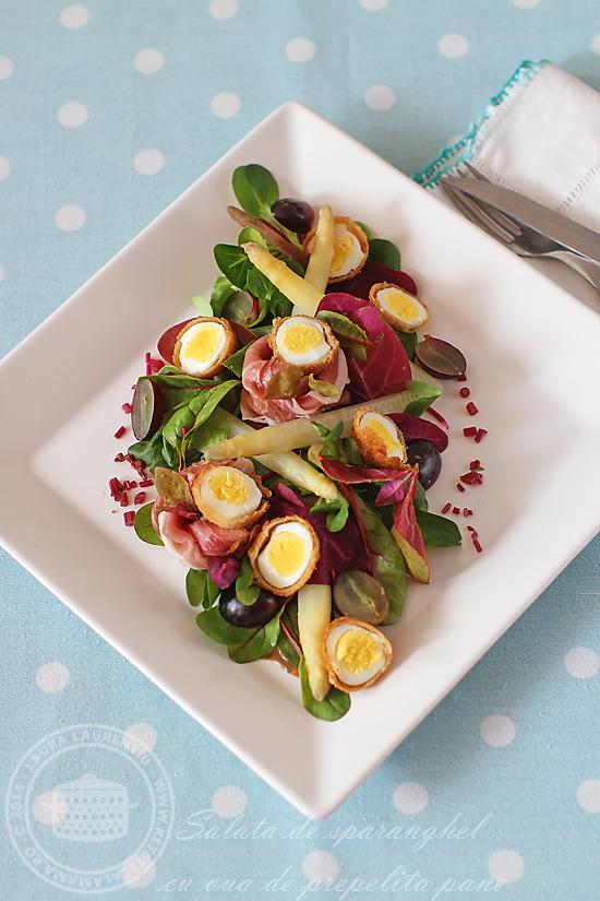 salata cu oua de prepelita pane si sparanghel alb-1