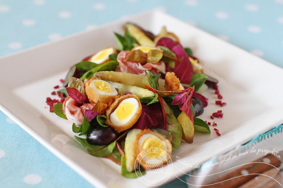 salata sparanghel si oua de prepelita