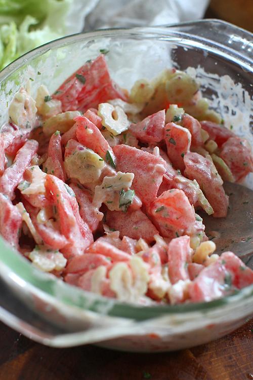 preparare salata de raci 3