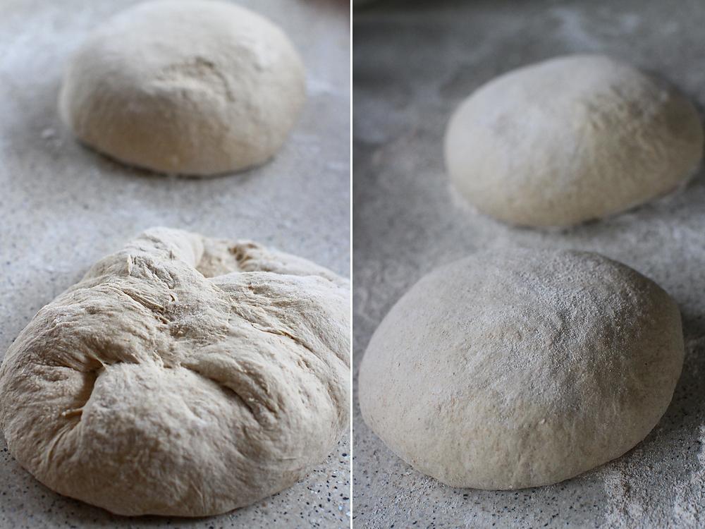 paine cu maia naturala si faina de secara - prima formare