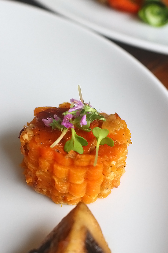 cartofi dulci dauphinoise close up