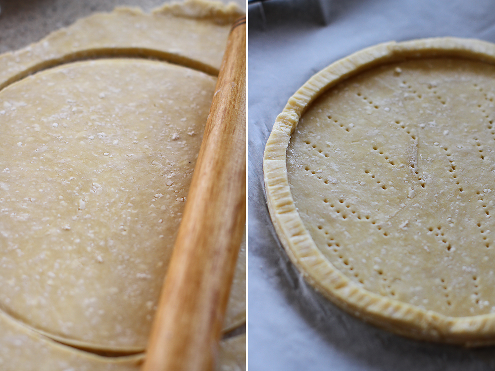 tarta cu smochine si doua feluri de branza preparare 1