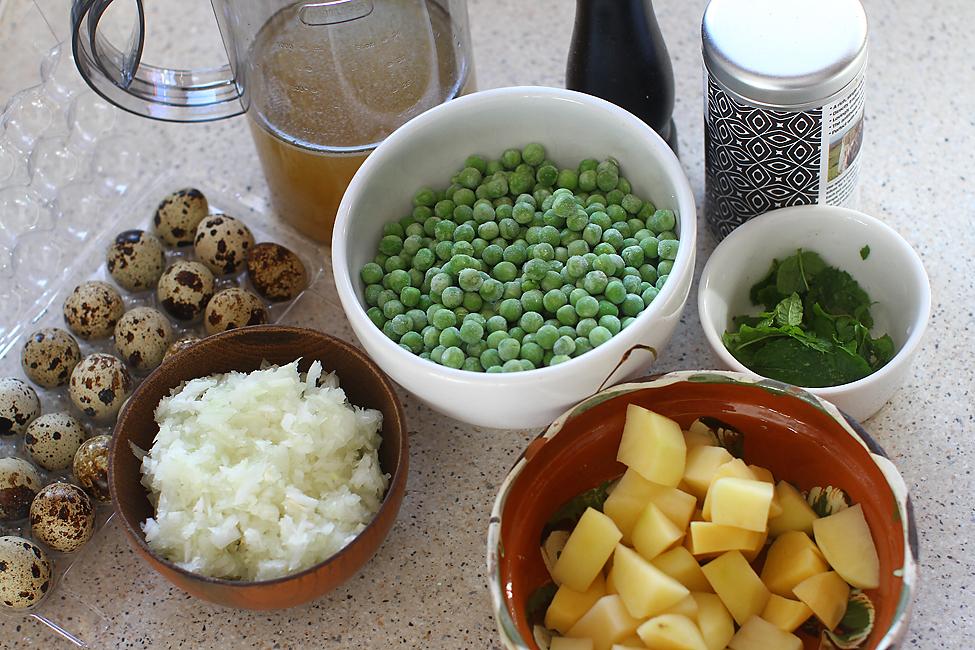 ingrediente supa crema de zamare cu oua de prepelita posate