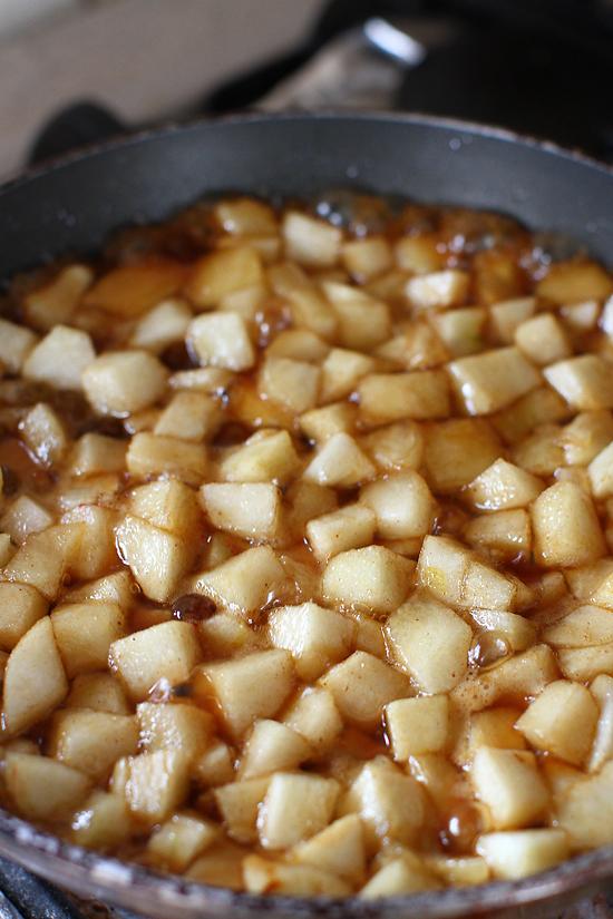 rulada cu mere caramelizate, preparare 1