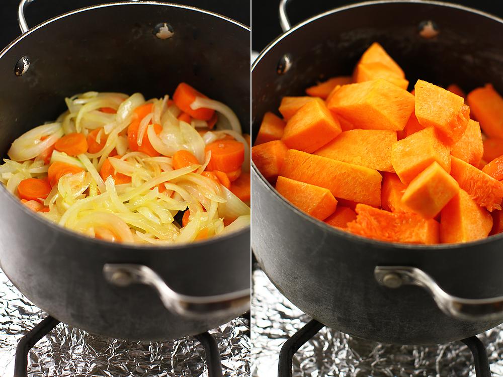 preparare supa de dovleac cu mustar