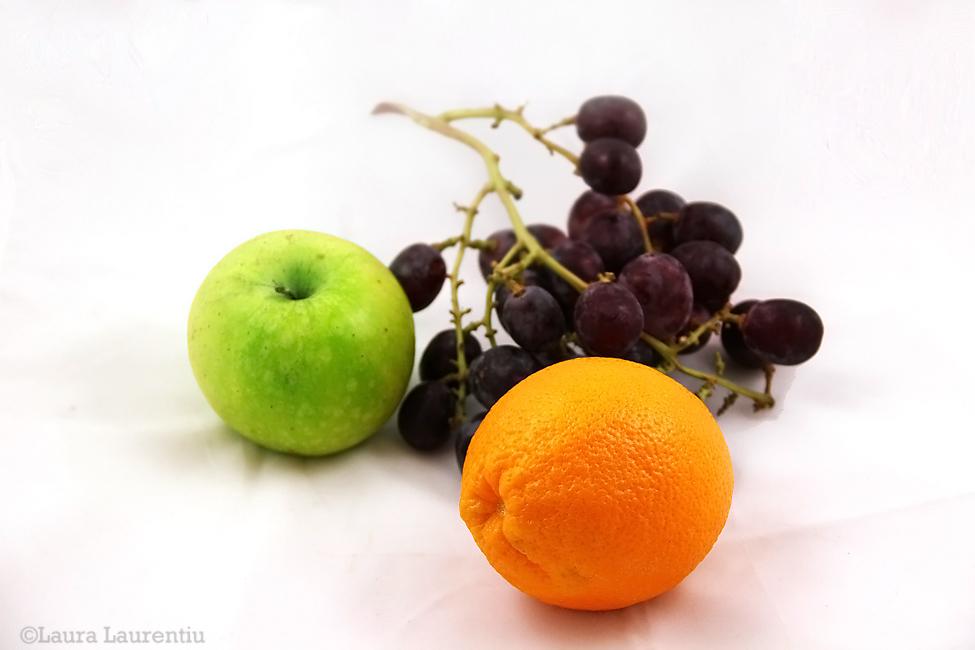 mar, portocala, strugure