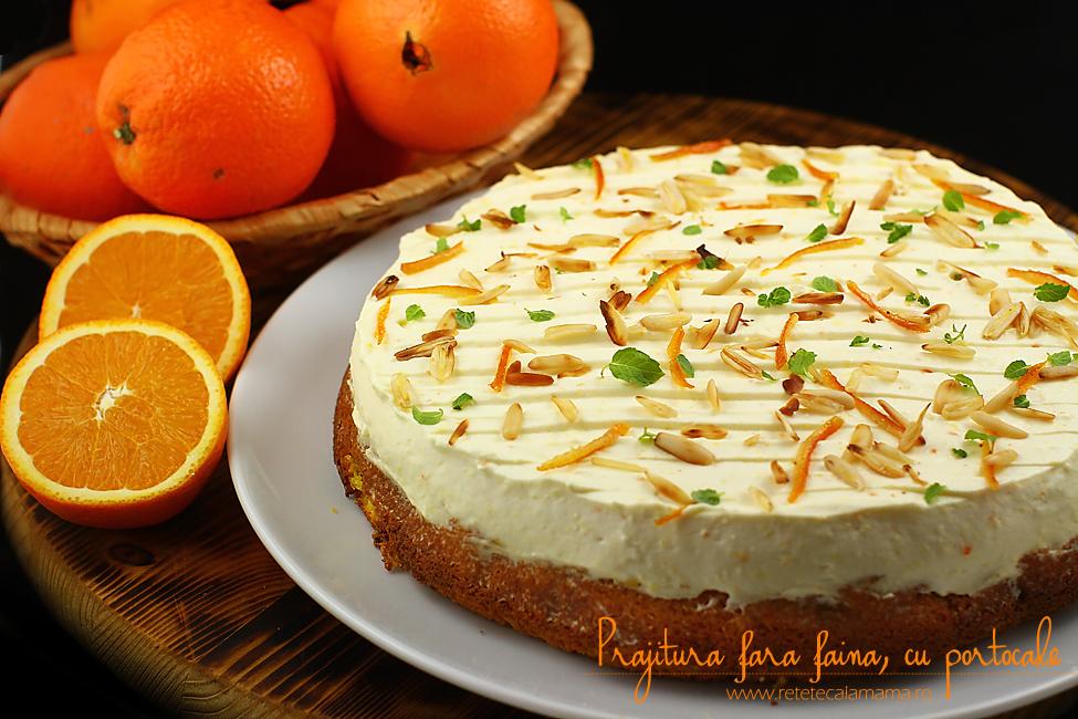 prajitura fara faina cu portocale si crema philadelphia-2
