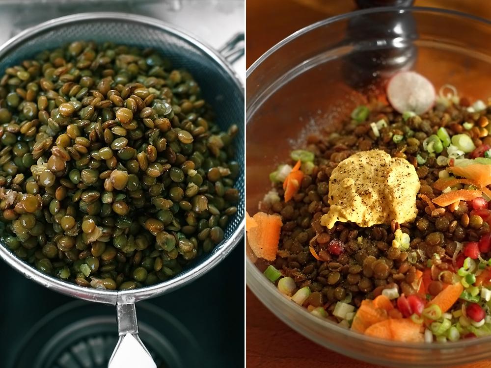 preparare salata de linte 3