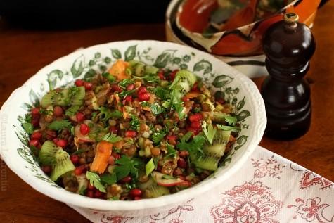 Salata de linte verde cu cruditati