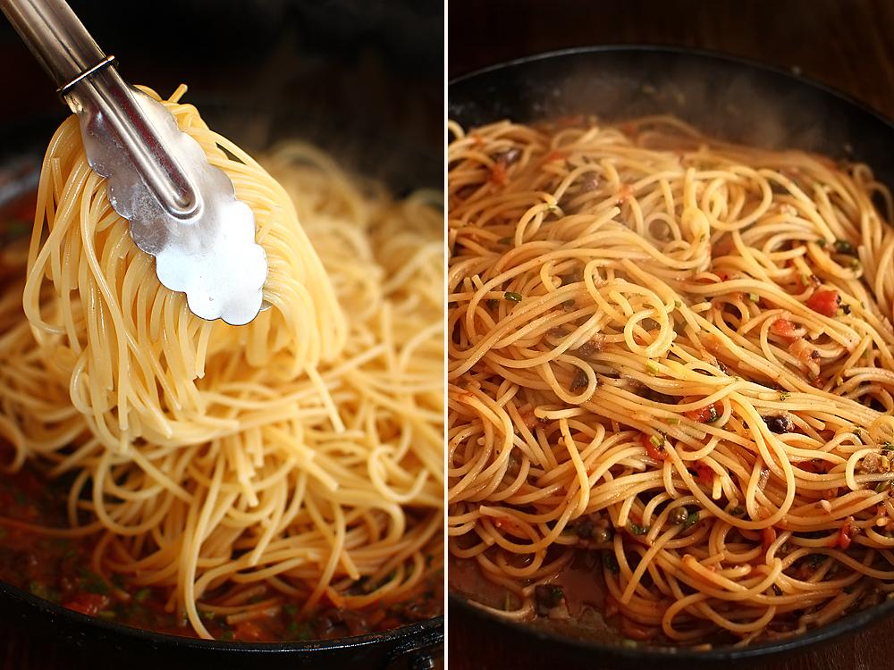 spaghetti alla puttanesca preparare 2