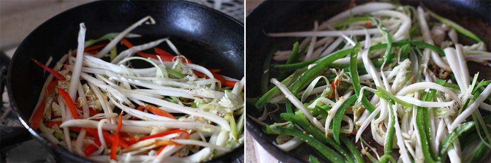 somon la tigaie cu legume in stil asiatic - preparare 7