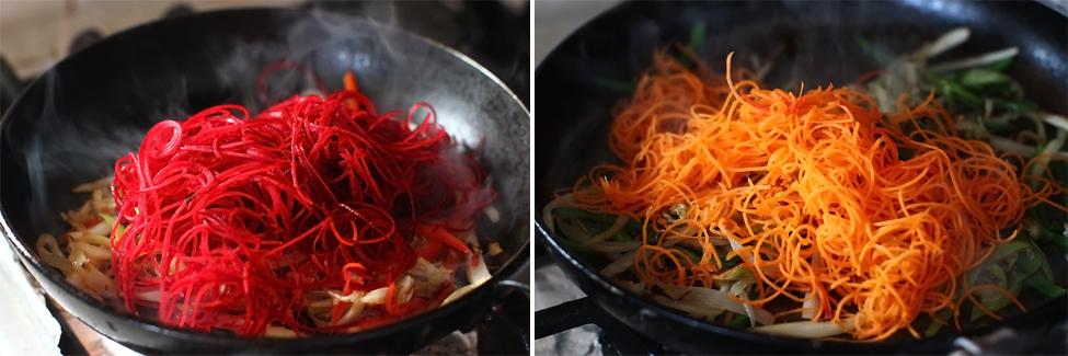 somon la tigaie cu legume in stil asiatic - preparare 8