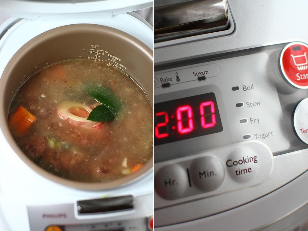 tocanita de vita cu ciuperci preparare 2