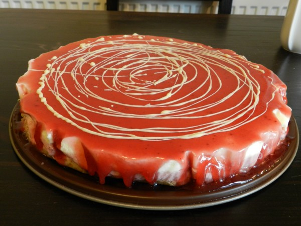 Cheesecake fara coacere cu ciocolata alba si zmeura by Mecanic