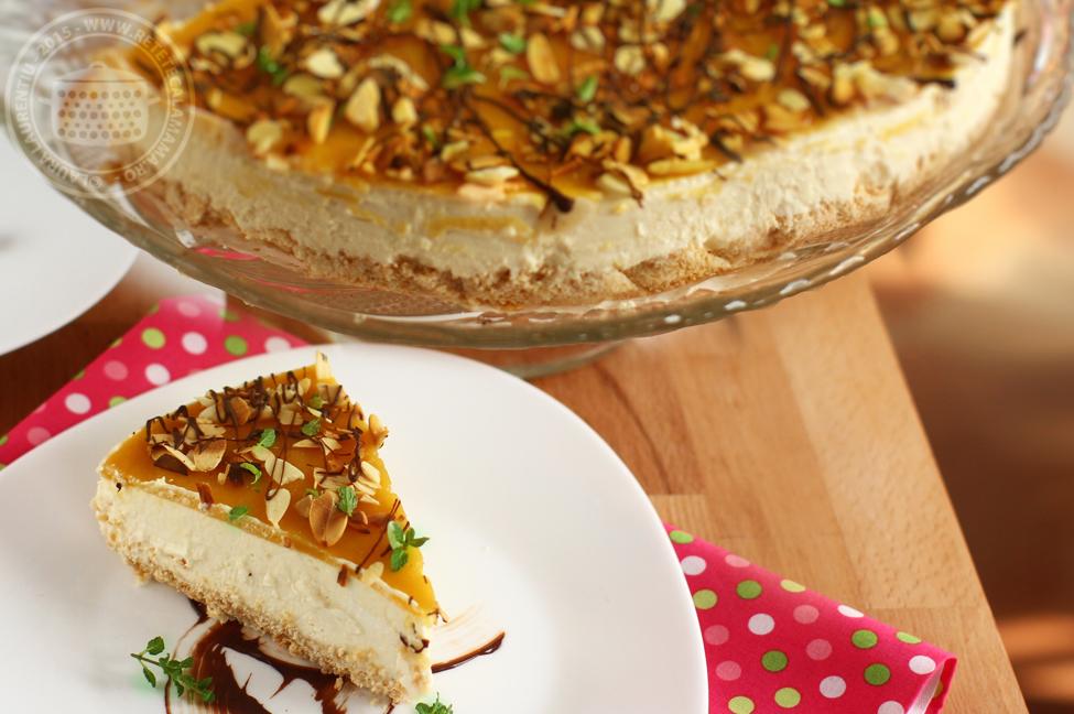 Cheesecake cu mango, fără coacere