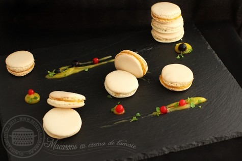 Macarons cu crema de lamaie