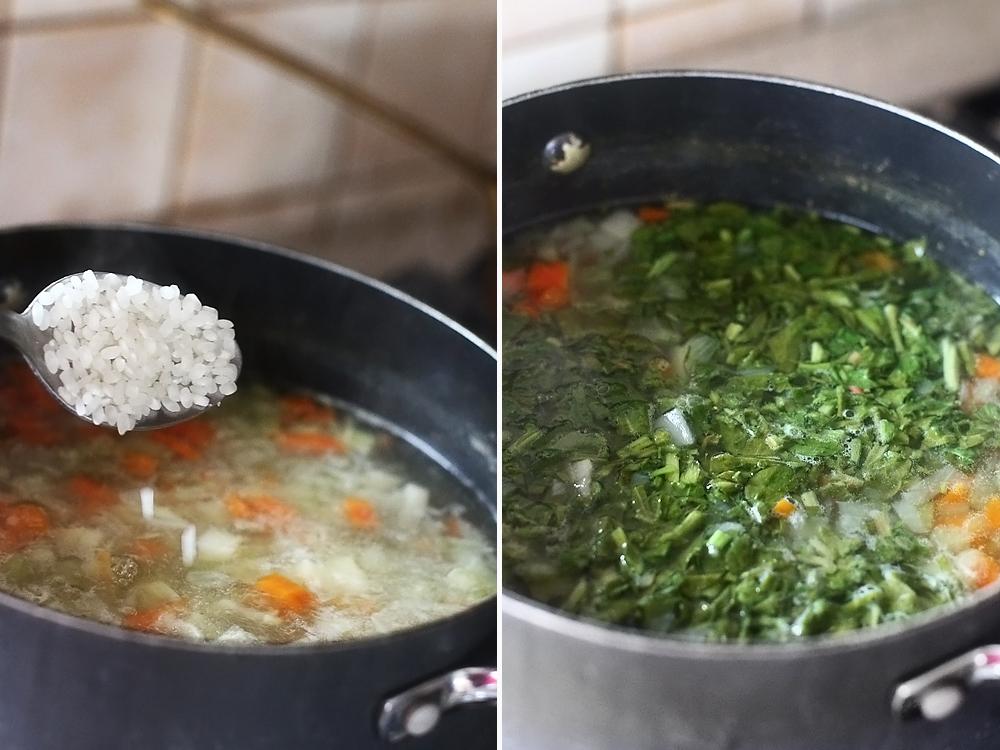 preparare ciorba de miel cu tarhon si macris 2