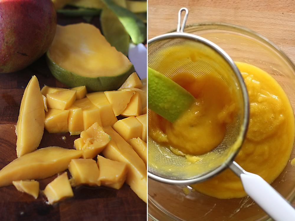 preparare piure de mango