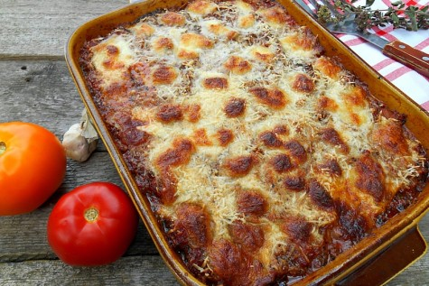 Lasagna cu vinete