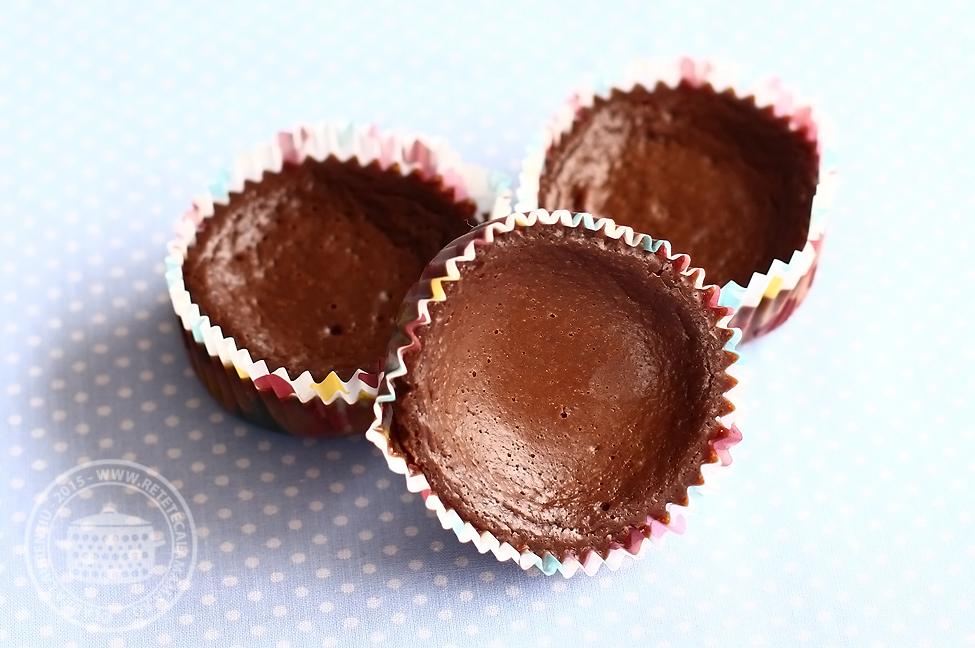mini cheesecake cu ciocolata