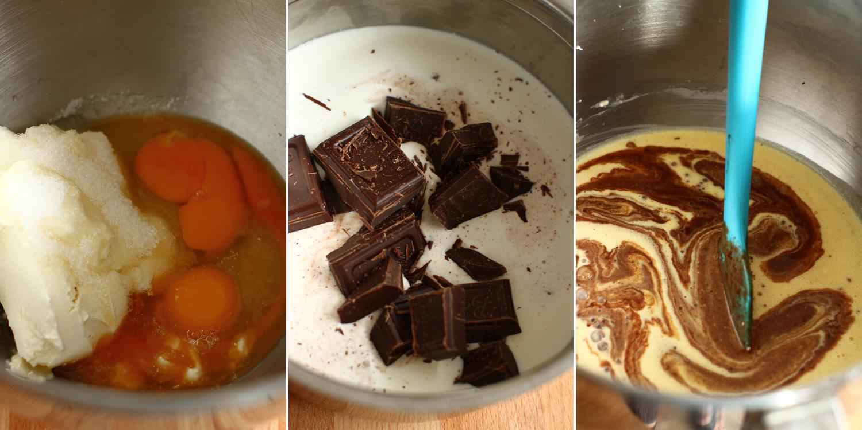preparare umplutura pasca cu ciocolata