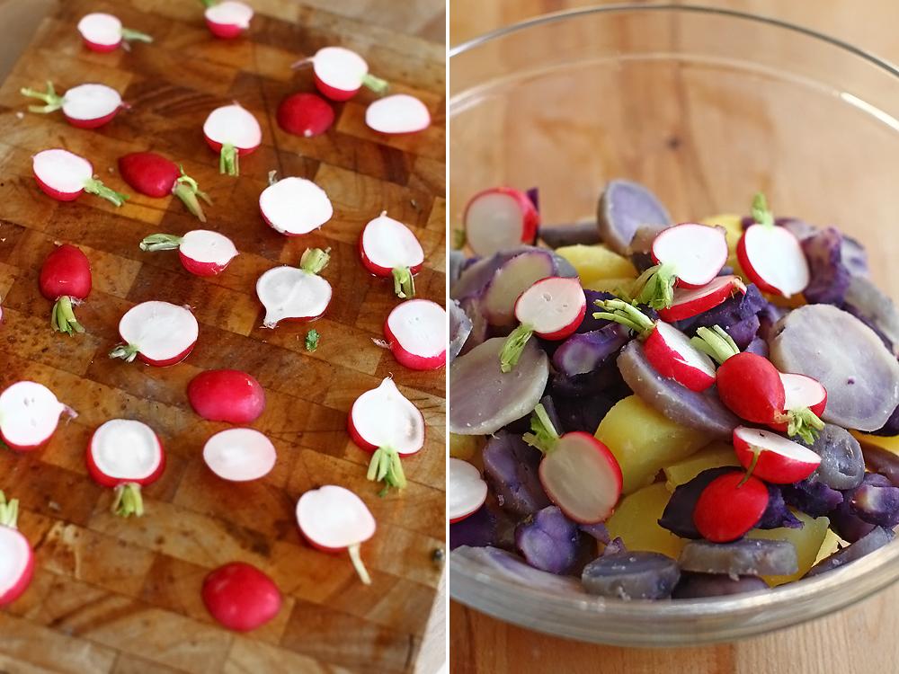 salata de cartofi cu ridichi preparare 2