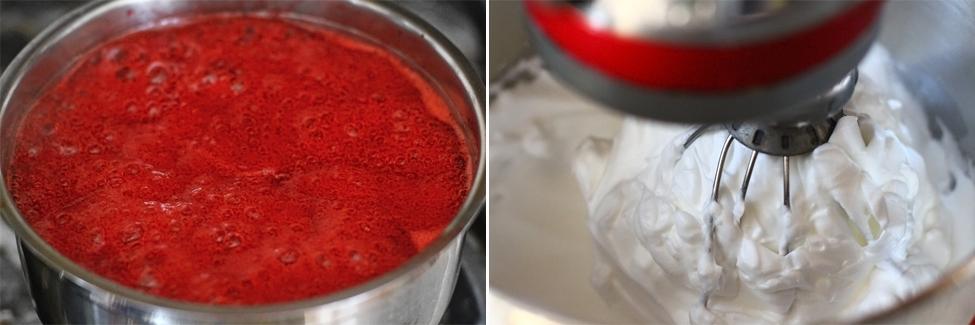 crema de capsuni cu bezea italiana si unt preparare 2