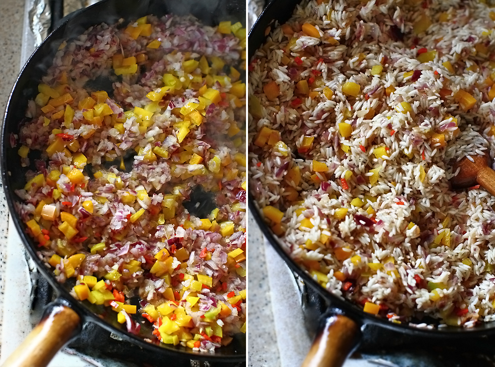 preparare pui picant cu orez 5