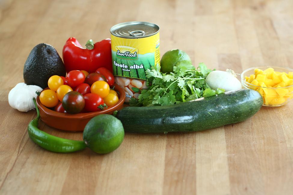 ingrediente salata zucchini fasole alba avocado retetecalamamaro