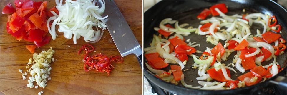 tofu la tigaie cu legume de vara preparare 3