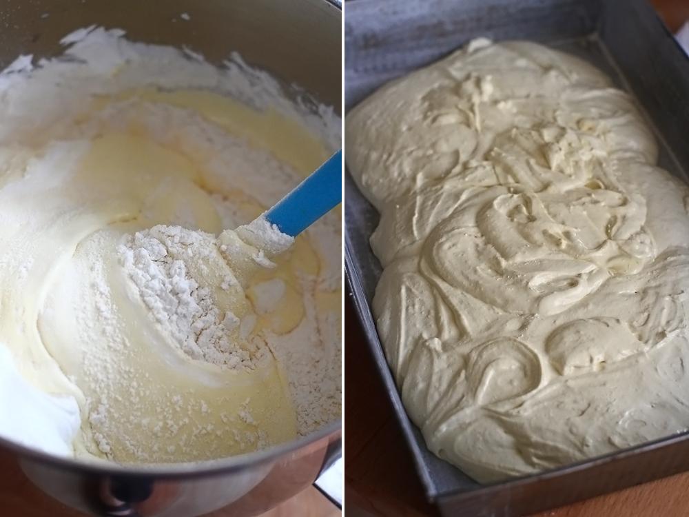 prajitura cu prune reteta laura laurentiu, preparare aluat pandispan 3