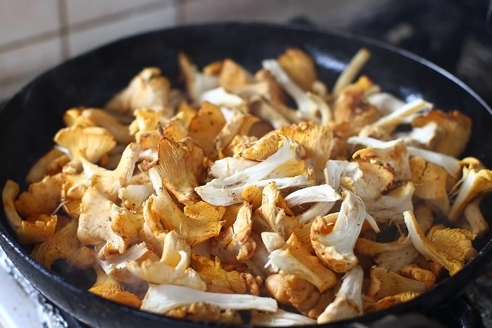 preparare salata calda de galbiori