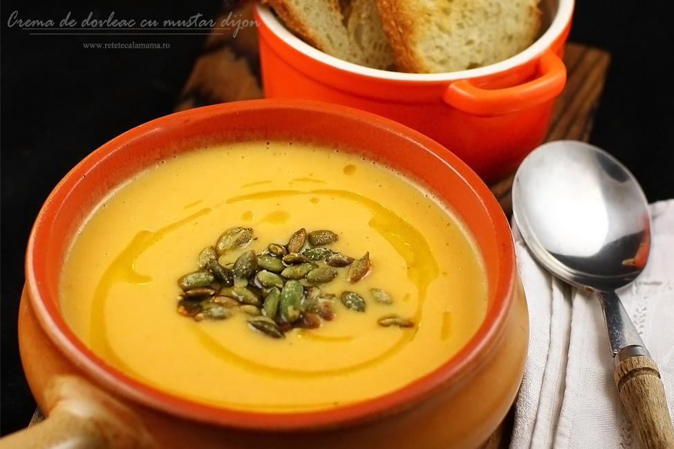 reteta supa crema de dovleac cu mustar de dijon