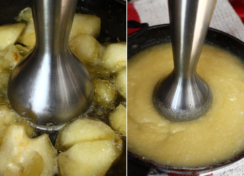 mod preparare prajitura fara coacere cu mere si crema de branza - 4