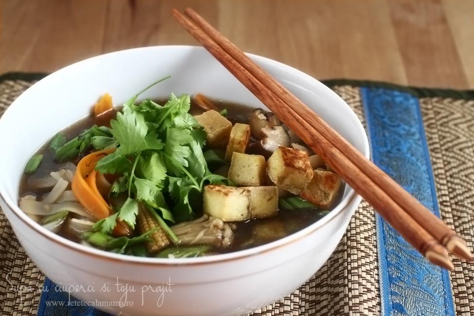 supa cu ciuperci si tofu prajit-2