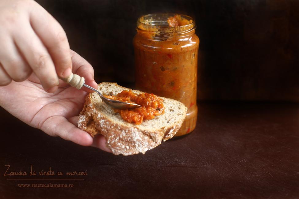 Zacuscă de vinete și morcovi
