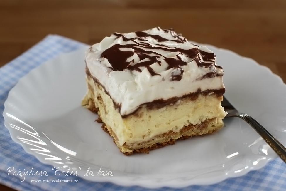 Prăjitura Ecler la tavă