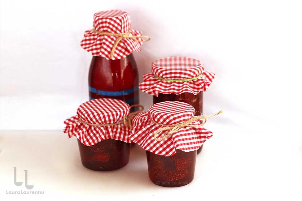 dulceata de capsuni reteta + sirop de capsuni reteta laura laurentiu