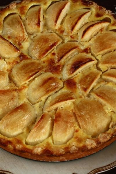 tarta cu mere normanda reteta cu poze retetecalamamaro