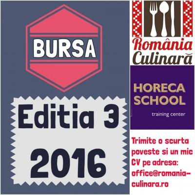 Lansăm Bursa România Culinară 2016 – în parteneriat cu Horeca School (editia 3)