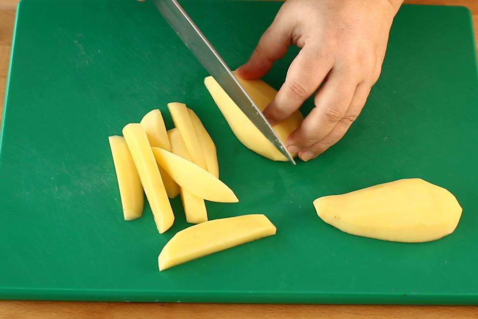 cartofi crocanti la cuptor, mod de preparare 1
