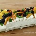 prăjitură cu brânză de vaci și fructe, reteta de prajitura cu fructe si branza de vaci