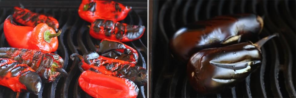 preparare ajvar 1, coacerea ardeilor si vinetelor pentru reteta de ajvar, reteta ajvar retetecalamamaro