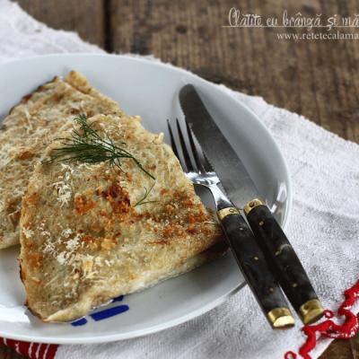 Clătite aperitiv cu brânză și mărar, la cuptor