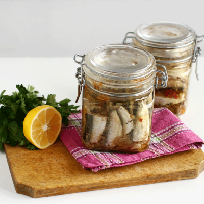Conservă de pește în ulei picant